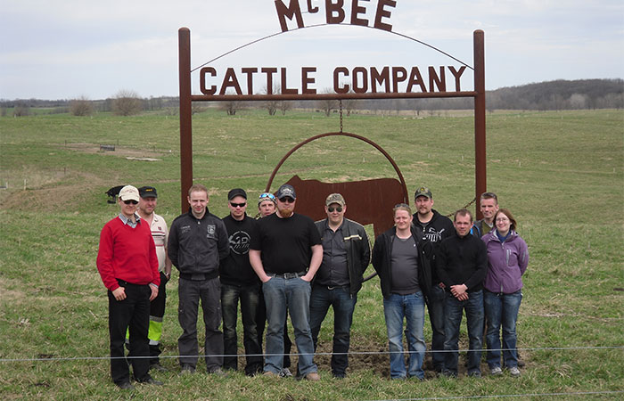 Finland Ag Producers visit McBee Cattle Co in Fayette, MO