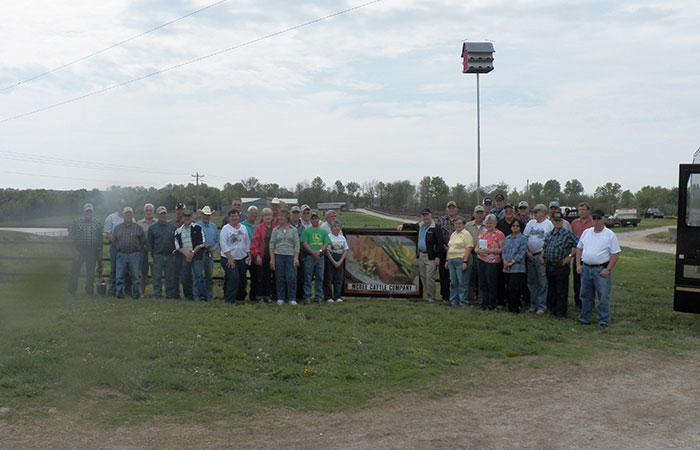 Illinois Tour Group visits McBee Cattle Co in Fayette, MO